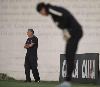 Tite Cássio Corinthians (Foto: Daniel Augusto Jr / Agência Corinthians)