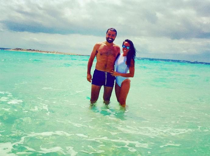 Ricardo e a esposa Francisca durante as férias (Foto: Arquivo Pessoal)