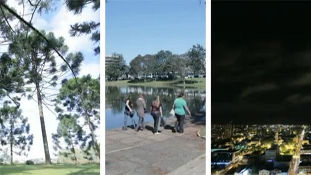 Time lapse Guarapuava (Foto: Reprodução/ RPC TV)
