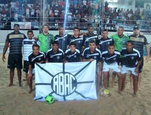 Time de futebol de areia do Rio Branco-ES estreou vencendo no Municipal de Vitória (Foto: Divulgação/Rio Branco-ES)