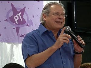 Dirceu participou do encontro do PT em Natal (Foto: Reprodução/Inter TV Cabugi)