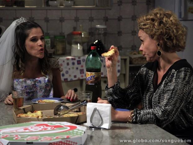 As duas tramam contra Vitinho (Foto: Ellen Soares / TV Globo)