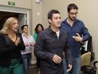 Thammy Miranda, Marcos Veras e Rafinha Bastos participam de coletiva