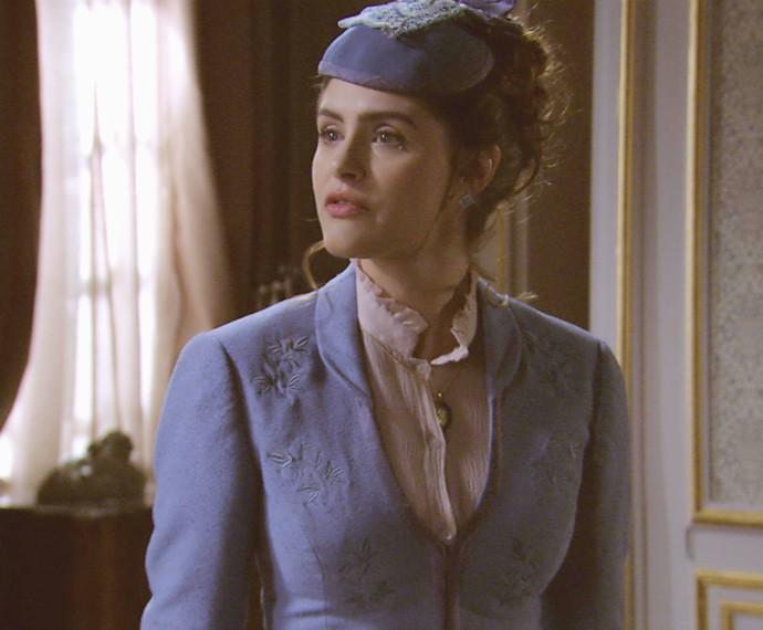 A falecida mulher de Felipe aparece em sonho de Melissa (Foto: TV Globo)