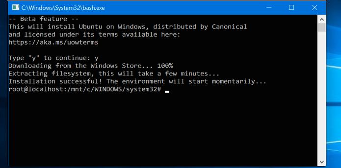 Instalando o Bash no Windows 10 (Foto: Reprodução/Edivaldo Brito)