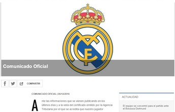 Real Madrid diz que Cristiano Ronaldo está em dia com obrigações fiscais