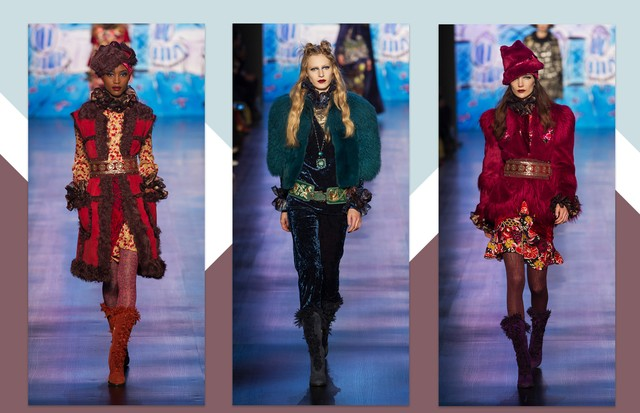 Anna Sui, inverno 2018 (Foto: Antonio Barros, Getty Images e ImaxTree)