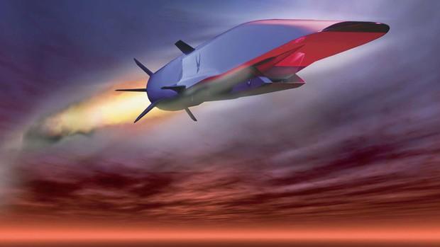 ... Imagem feita digitalmente representa o X-51A Waverider em voo. O teste da aeronave será feito sobre o Oceano Pacífico nesta terça-feira (14). (Foto: Reuters/Força Aérea dos EUA)