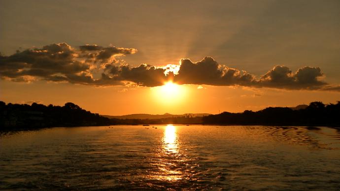 Pôr do sol em Corumbá  (Foto: João Braga/Gshow)