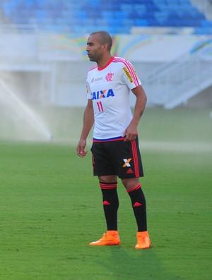 Treino Flamengo - atacante Emerson Sheik - Arena das Dunas - Natal-RN (Foto: Augusto Lago/GloboEsporte.com)
