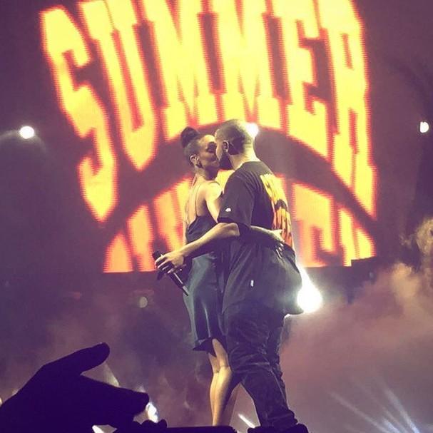 Rihanna e Drake, em Miami (Foto: Reprodução/ Instagram)