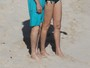 Paul McCartney curte praia com a mulher, Nancy Shevell, em St. Barts