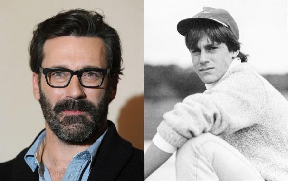 Aos 43 anos, ele é um dos homens mais sexy da TV e foi indicado ao prêmio de Melhor Ator em Série Dramática por 'Mad Men'. De volta aos tempos de escola, impossível não gamar em seu boné de beisebol e suéter estiloso, em Saint Louis. (Foto: Getty Images/Arquivo pessoal)