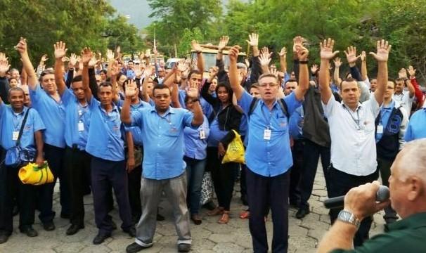 Trabalhadores decidiram pela paralisação dos serviços (Foto: José Alberto/Arquivo Pessoal)