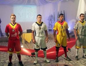 Globo Futebol Clube apresenta novos uniformes (Foto: Canindé Soares/Cedida)