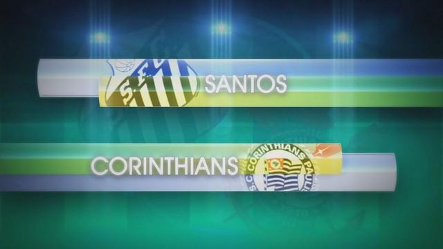 Santos x Corinthians (Foto: Reprodução/TV Tribuna)