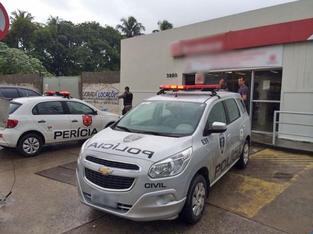 Quando a polícia chegou, os bandidos já tinham fugido (Foto: Walter Paparazzo/G1)