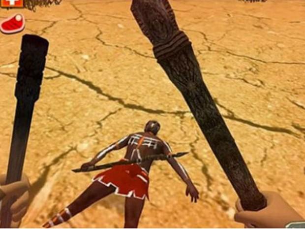 Em Survival Island 3: Australia Story 3D, jogadores recebem recompensas, como armas e comida, ao matar nativos (Foto: Reprodução/Survival Island 3: Australia Story 3D)
