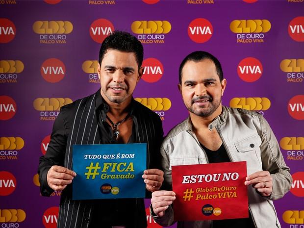 Zez Di Camargo e Luciano - Globo de Ouro Palco VIVA (Foto: Marcelo Tabach)