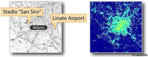 Cientistas compararam dados oficiais de visitantes em aeroporto e estádio com atividade no Twitter e no celular. (Foto: Divulgação/BBC)