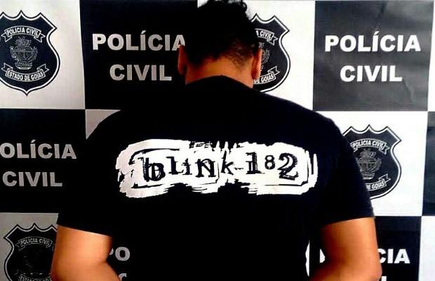 Pai é detido por agredir o bebê de 2 anos com chinelada no rosto, em Goiás (Foto: Divulgação/Polícia Civil)