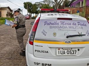 Patrulha Maria da Penha tem carros da Brigada Militar identificados (Foto: Divulgação/SSP)