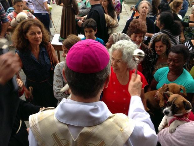 Animais são abençoados em São João de-Rei, MG (Foto: Thiago Morandi/Arquivo Pessoal)