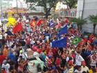 Natal tem protesto contra as reformas da previdência e trabalhista