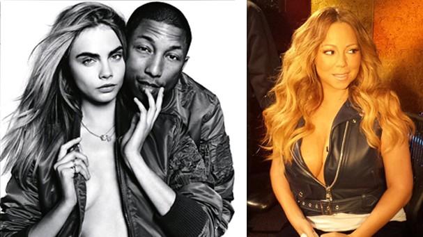 Cara Delevigne e Mariah Carey, outras duas adeptas da tendência (Foto: Reprodução Instagram)