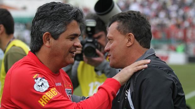 Ney Franco São Paulo e Abel Ribeiro Figueirense (Foto: Rubens Flores / Ag. Estado)