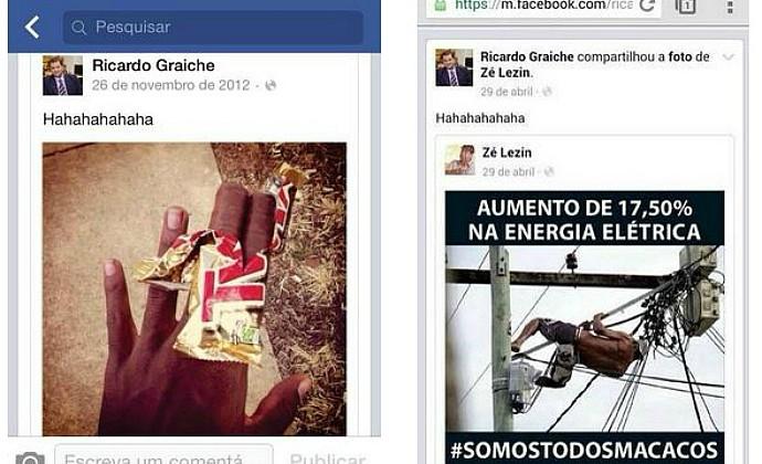 Fotos facebook racismo auditor Ricardo Graiche grêmio (Foto: Reprodução)