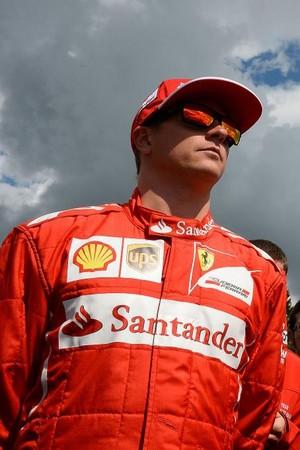Kimi Raikkonen e Fernando Alonso, dupla da Ferrari, na Bélgica (Foto: Divulgação)