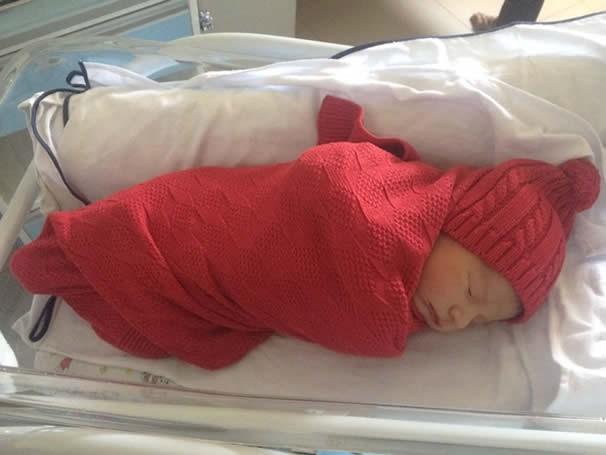Leonel nasceu com 54cm pesando 4,25kg. (Foto: Arquivo Pessoal)