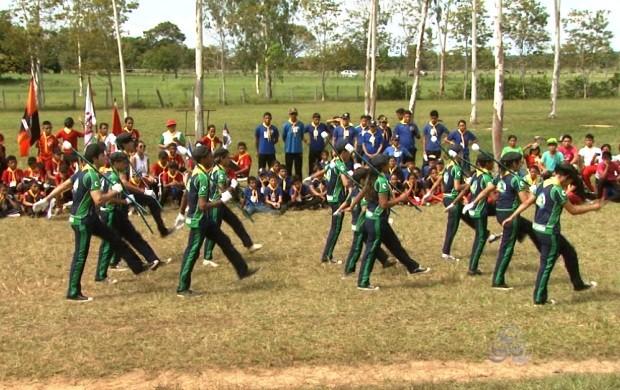 Crianças e adolescentes participaram de acampamento em área rural de Boa Vista (Foto: Roraima TV)