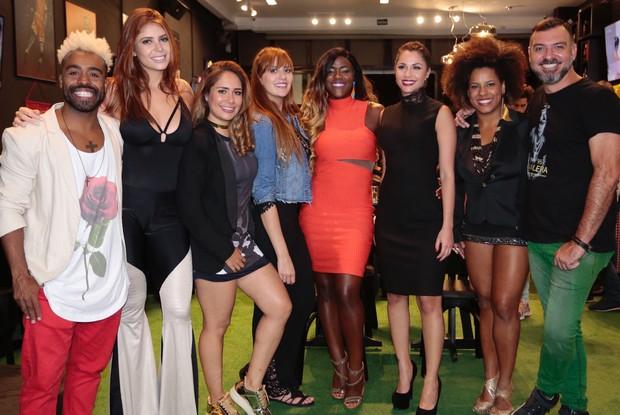 Ex-BBBs reunidos em São Paulo para a estreia da 17ª edição do reality show (Foto: Rafael Cusato/EGO)