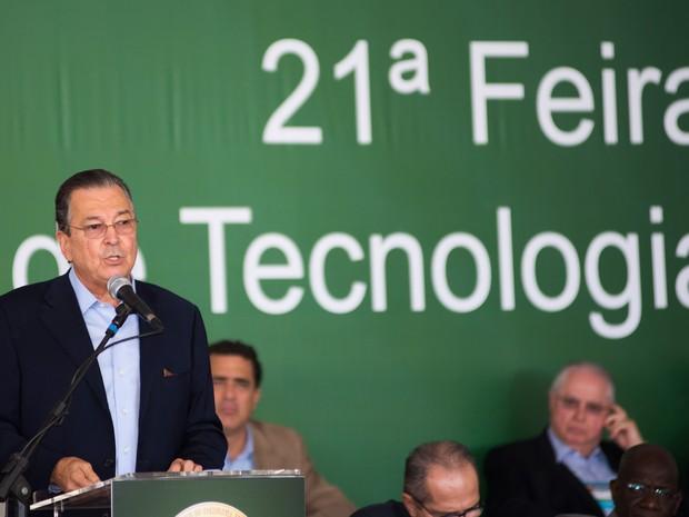 O presidente da Agrishow, Maurílio Biagi Filho, em Ribeirão Preto (Foto: Érico Andrade/G1)