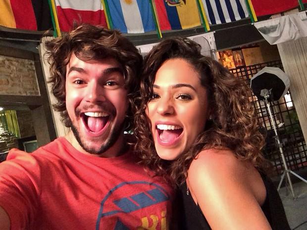 Osmar Silveira grava primeira cena ao lado de Roberta Almeida (Foto: Arquivo Pessoal)