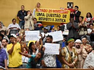 Grupo acompanhou votação na Câmara de Vereadores de Porto Alegre (Foto: Ederson Nunes/CMPA)