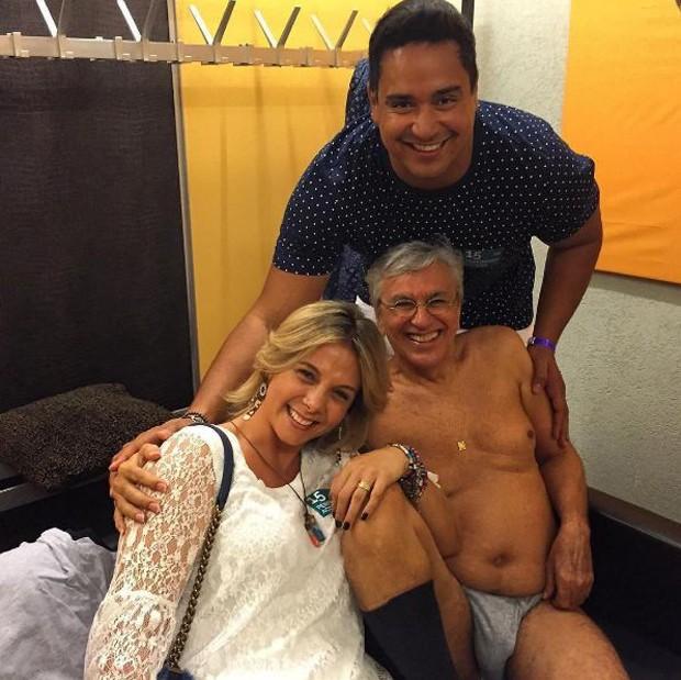 Carla Perez, Caetano Veloso e Xandy (Foto: Reprodução/Instagram)