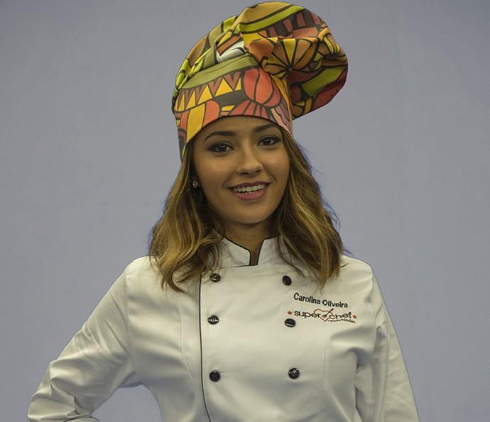 Carolina Oliveira no 'Super Chef Celebridades' (Foto: Globo/Renato Rocha Miranda)