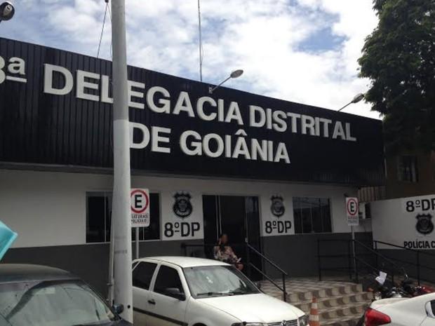 8º Distrito Policial de Goiânia, Goiás (Foto: Vitor Santana/G1)