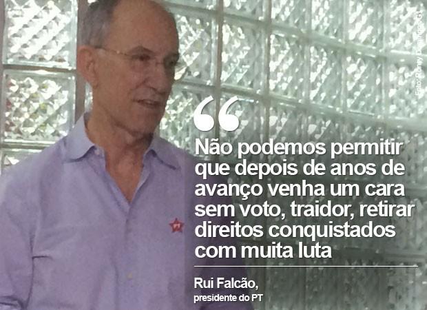 Rui Falcão falou após reunião da executiva do PT (Foto: Roney Domingos/G1)