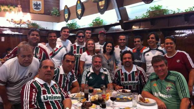 tricolores comemoração buenos aires (Foto: Edgard Maciel de Sá / Globoesporte.com)