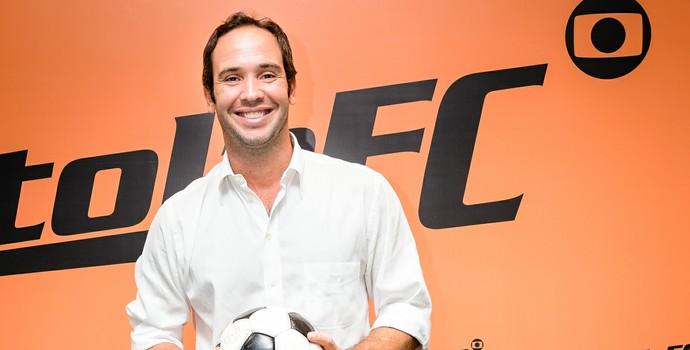 Caio Ribeiro no lançamento do Cartola (Foto: Ramon Vasconcelos/TV Globo)