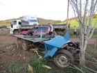 Acidente entre caminhão e veículo artesanal causa uma morte no RS