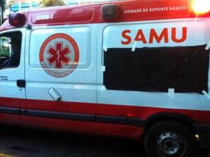 Ambulâncias Samu Cuiabá (Foto: Dhiego Maia/G1)