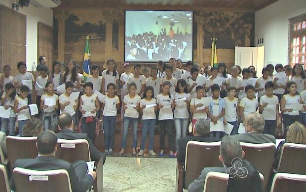Mais de 1600 alunos participaram do programa desenvolvido pelo TJ-AC (Foto: Bom Dia Amazônia)