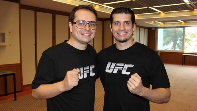 Cornelis e Henri Springer, cutmen do UFC no Brasil (Foto: Adriano Albuquerque)