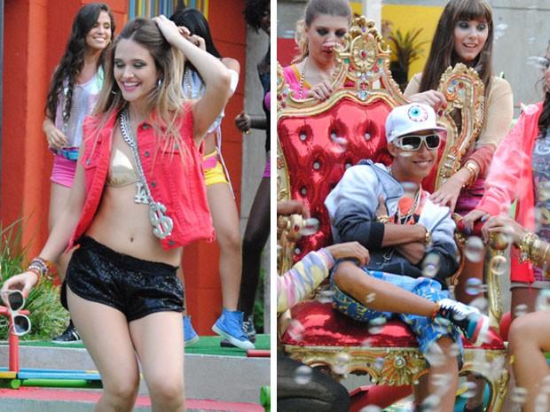 Fatinha dançou até não poder mais no clipe do Pilha. Não dá pra perder, né? (Foto: Malhação / Tv Globo)