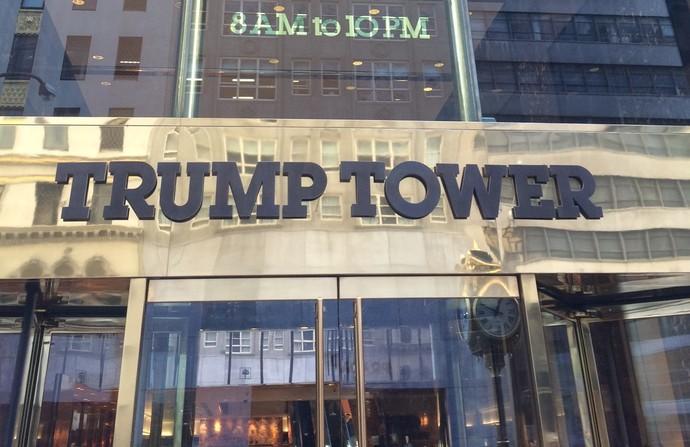 Entrada Trump Tower apartamento José Maria Marin Nova York (Foto: GloboEsporte.com/Martin Fernandez)